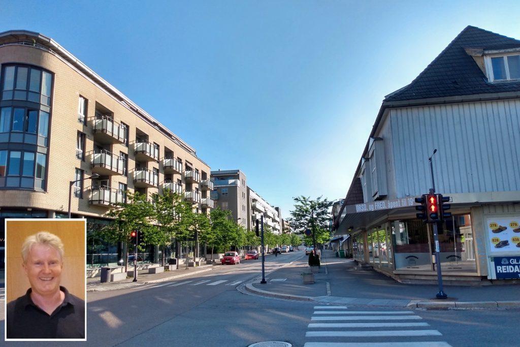 Strømmen Øst, Strømsveien. Områderegulering Lillestrøm kommune, byutviklingsavdelingen. Foto: Vårt Strømmen, vartstrommen.no