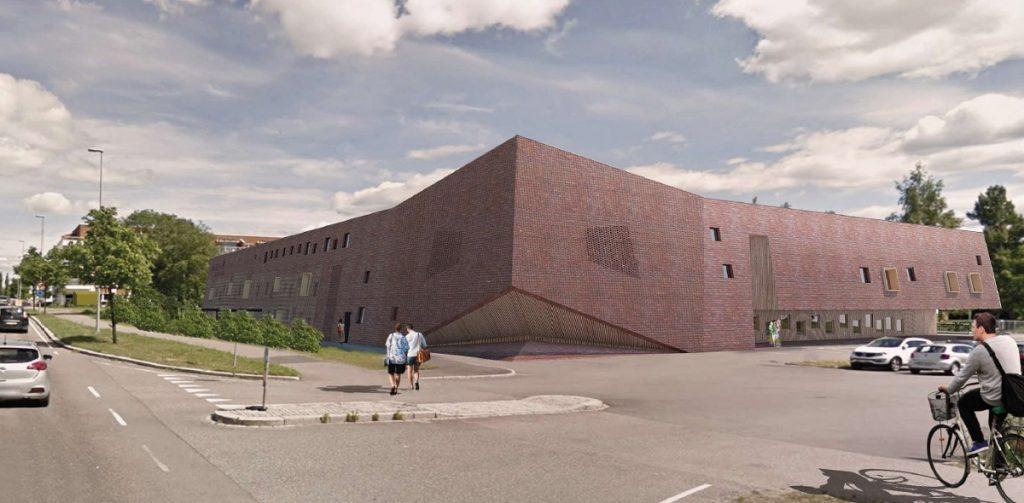 Sagelva barnehage, Strømmen i Lillestrøm kommune. Illustrasjon: A38 arkitekter as.