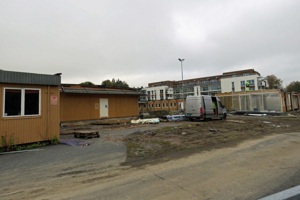 Strømmen, Lillestrøm kommune. Riving av Sagelva barnehage. Foto: Vårt Strømmen, vartstrommen.no.