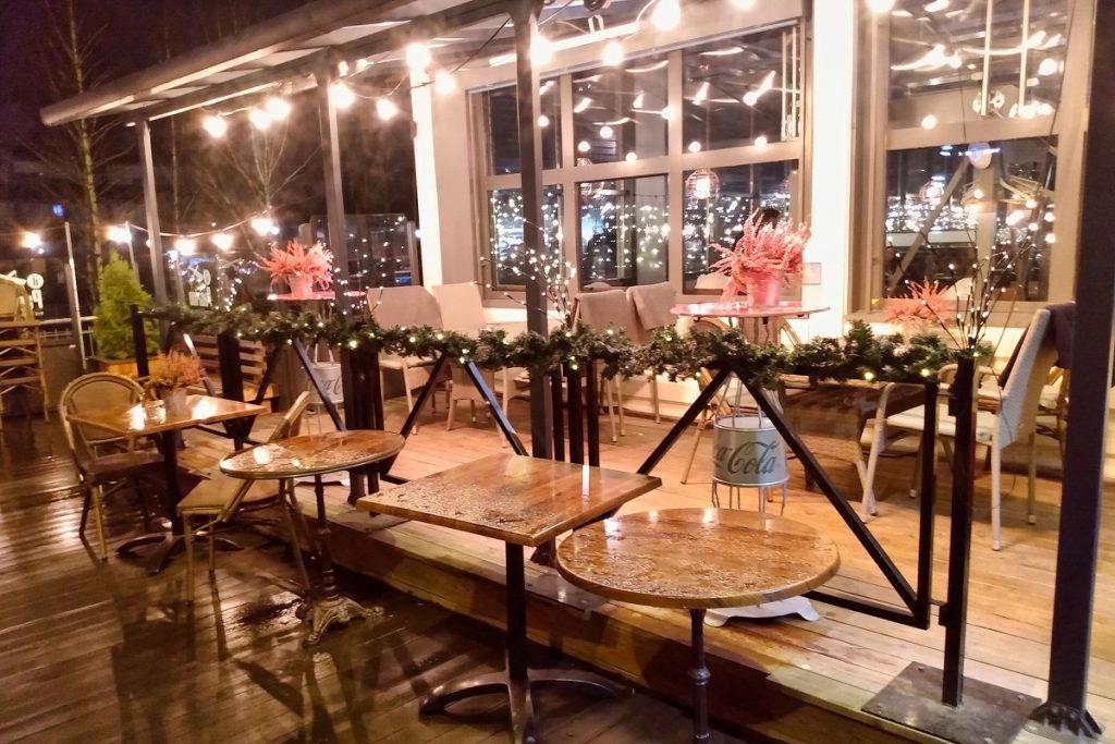 Strømmen Storsenter, Il Padrino restaurant. Julemiddag, desember 2020. Foto: Vårt Strømmen, vartstrommen.no.