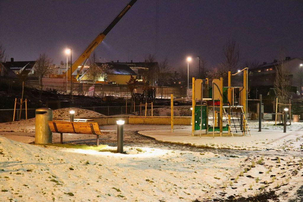 Strømmen Verksted-tomta, boligprosjekt Thon Eiendom. Sidesporet 2, 4, 6. Foto: Vårt Strømmen, vartstrommen.no.