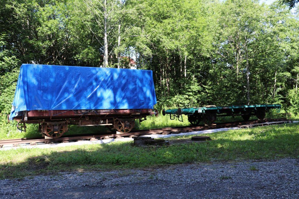 Strømmen sidebane, Sagelvas Venner. Historisk museumsbane. Gamle togvogner. Foto: Vårt Strømmen, vartstrommen.no.