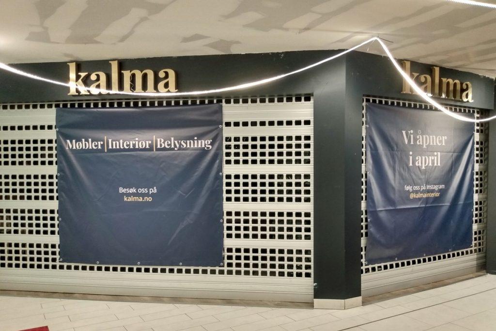 Kalma Interiør, Strømmen Storsenter. Ny interiørbutikk. Foto: Vårt Strømmen, vartstrommen.no.