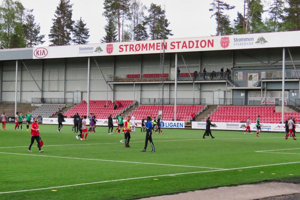 Strømmen IF, Fotball Strømmen stadion, OBOS-ligaen 2021. Foto: Vårt Strømmen, vartstrommen.no.