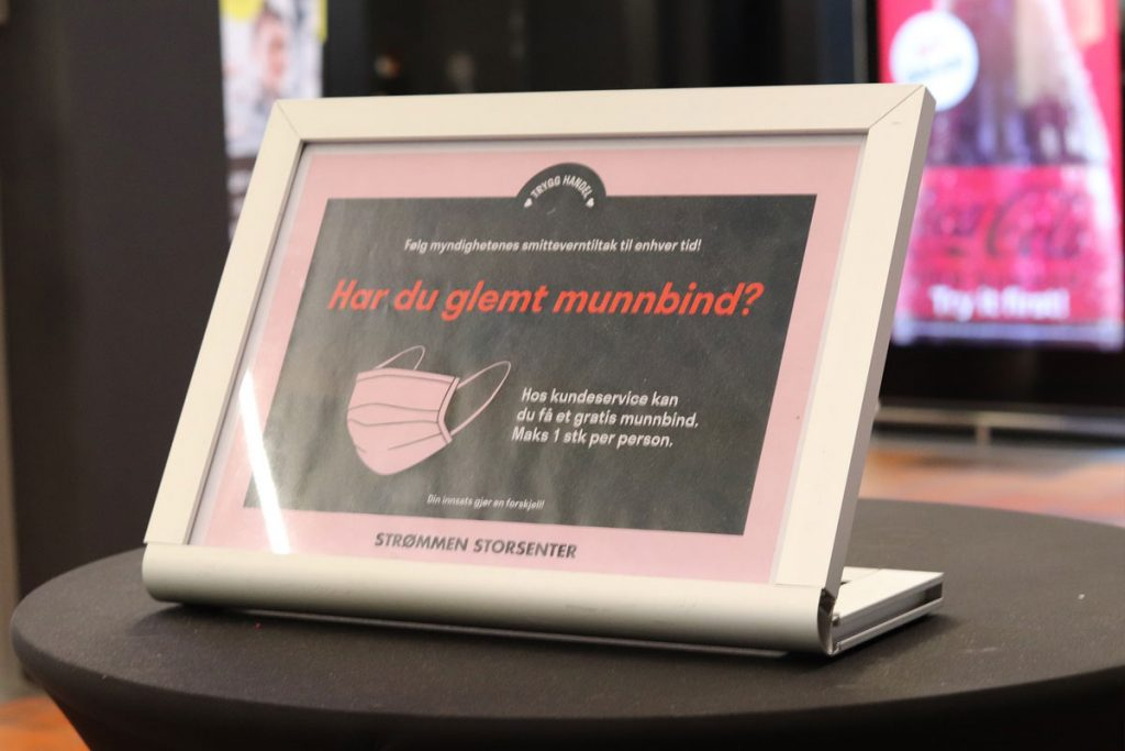Annonsørinnhold / annonse: Strømmen Storsenter: Smittevern, trygg handel.