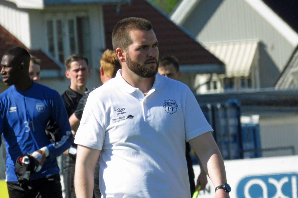 Ole Martin Nesselquist, hovedtrener / trener Strømmen IF, Strømmen stadion. OBOS-ligaen 2021. Fotball. Foto: Vårt Strømmen, vartstrommen.no.