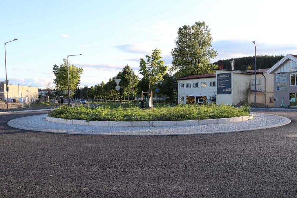 Strømmen i bilder: Rundkjøring Sagbruksveien / Bråteveien - Foto: Vårt Strømmen, vartstrommen.no.