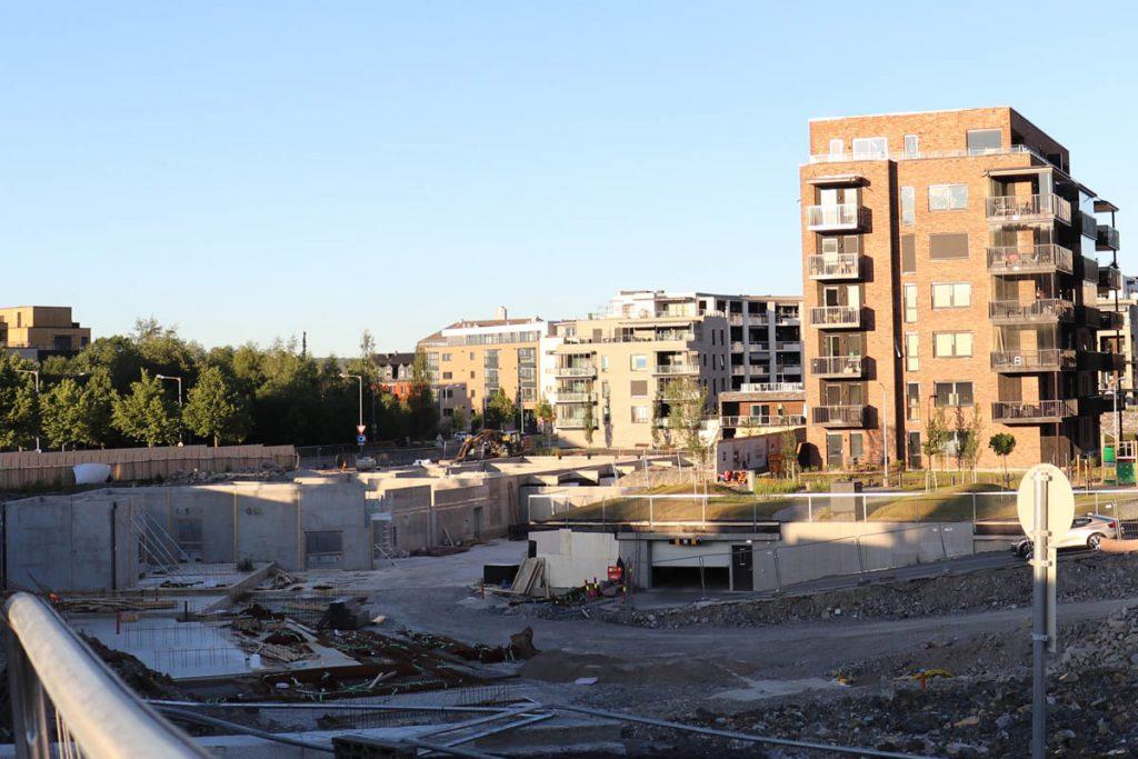 Strømmen i bilder: Strømmen Verksted-tomta, byggetrinn 2 - Foto: Vårt Strømmen, vartstrommen.no.
