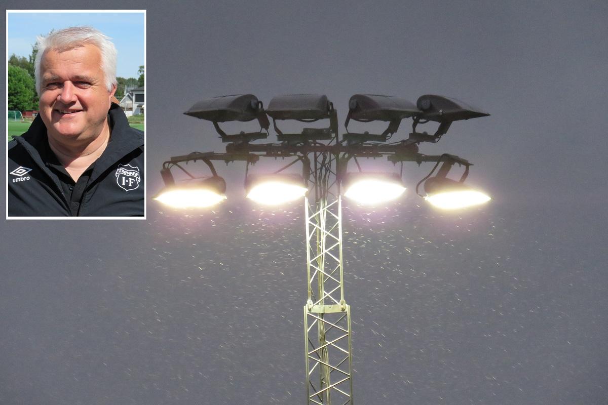 Strømmen stadion, daglig leder Harald Gjervik. Flomlys-saken i Lillestrøm kommune. Foto: Vårt Strømmen, vårtstrømmen.no.